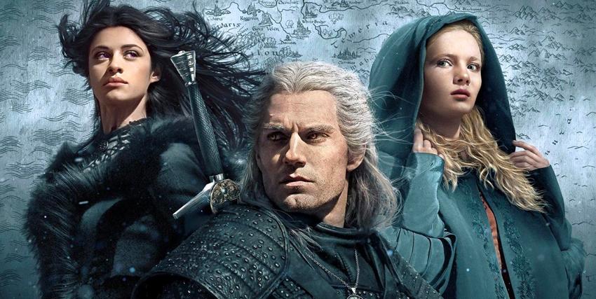 i tre personaggi principali di the wintcher in una key art - nerdface