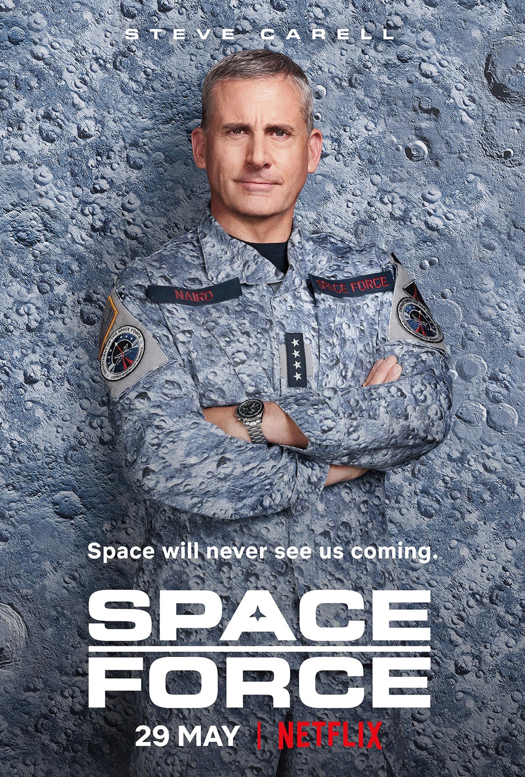 locandina ufficiale di space force - nerdface