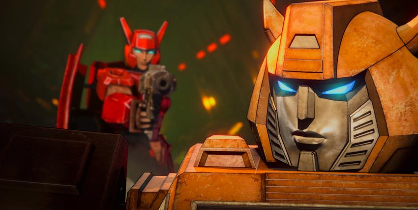 bumblebee, ancora un mercenario, è minacciato con una pistola da un autobot - nerdface