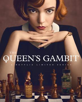 locandina de la regina degli scacchi - nerdface