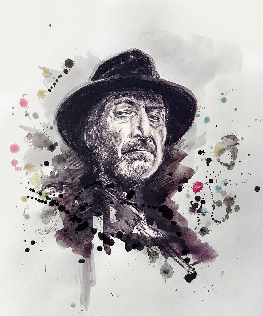 artwork che ritrae Frank Miller - nerdface