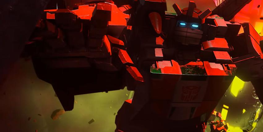 un autobot illuminato di rosso sembra chiedere aiuto - nerdface