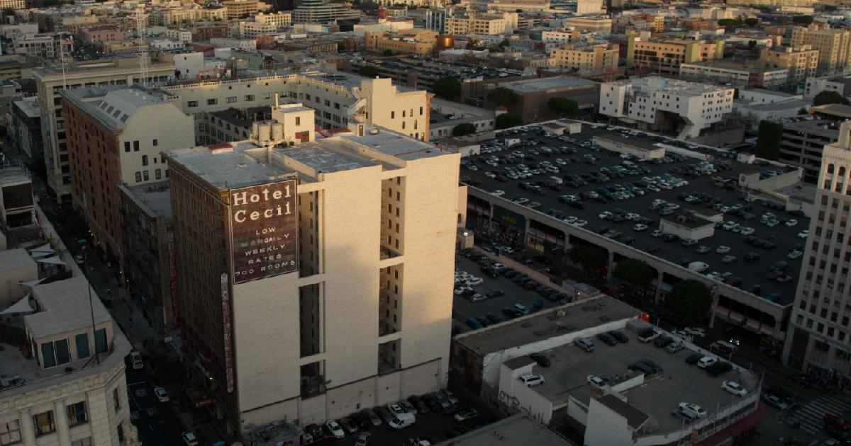 una panoramica del cecil hotel - nerdface