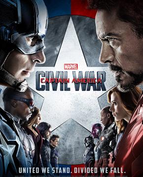 nerdface recensione Captain America: Civil War poster