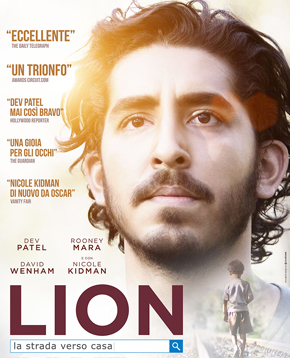 Locandina del film Lion con Dev Patel