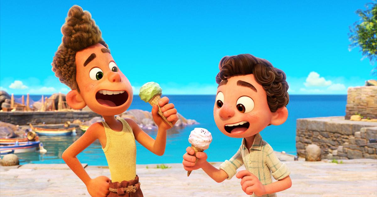 In una scena del film Luca e il suo amico Alberto si godono un gelato con entusiasmo. Nerdface