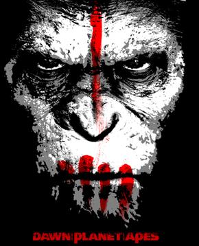 locandina artistica dei apes revolution il pianeta delle scimmie - nerdface