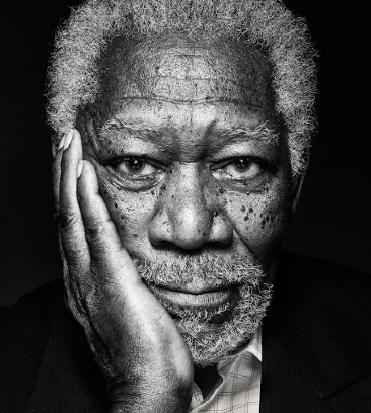 Primo piano di Morgan Freeman - nerdface