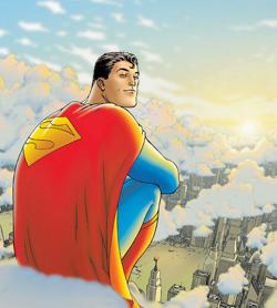 Superman seduto su una nuvola - nerdface
