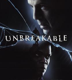 locandina ufficiale del film Unbreakable - nerdface
