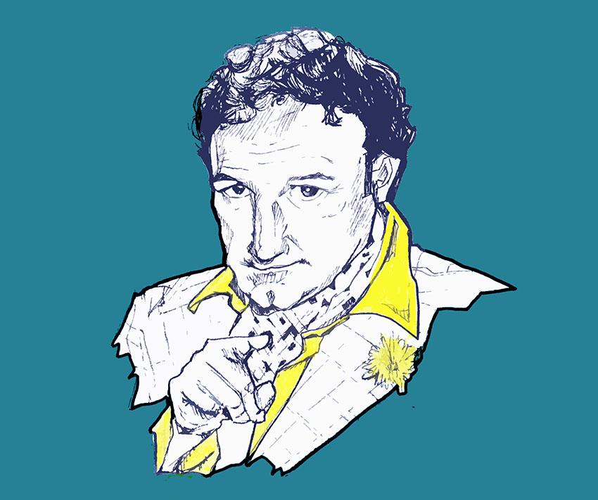 Illustrazione dedicata a Gene Hackman - nerdface