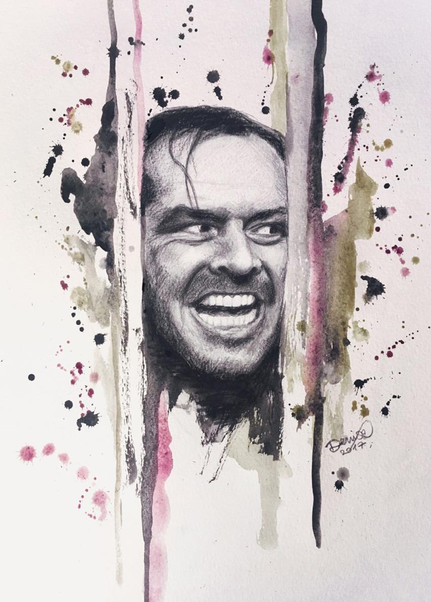 illustrazione raffigurante Jack Nicholson - nerdface