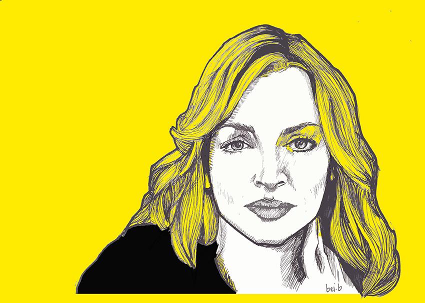 illustrazione raffigurante Uma Thurman - nerdface