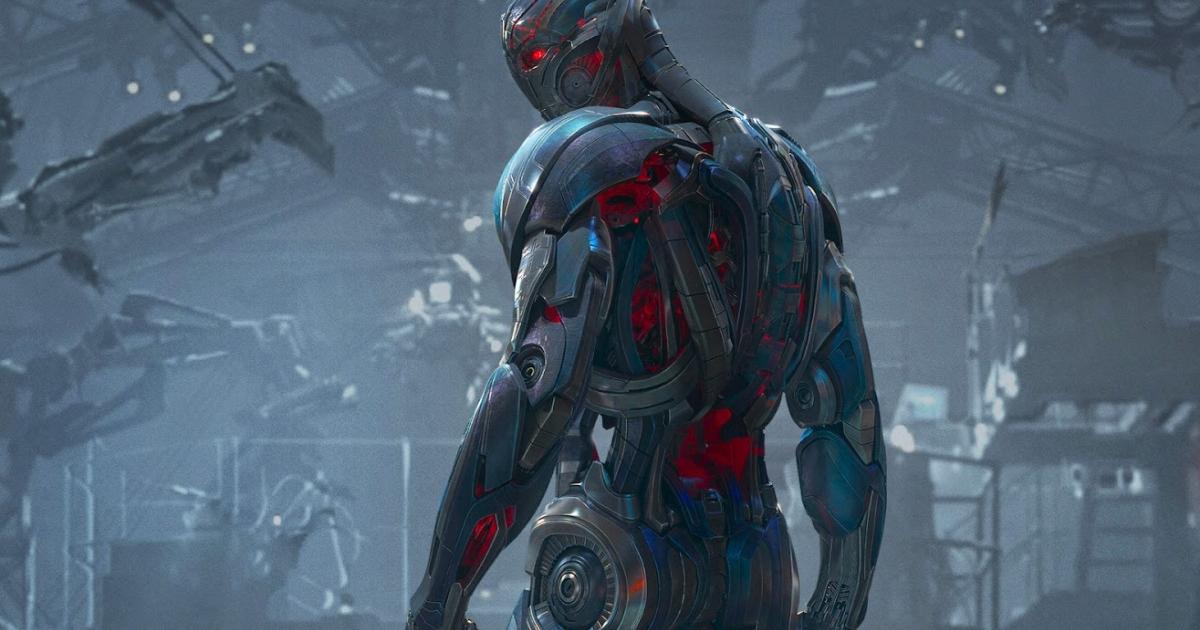 ultron si sta preparando alla guerra nel suo laboratorio in cui crea l'esercito di robot - nerdface