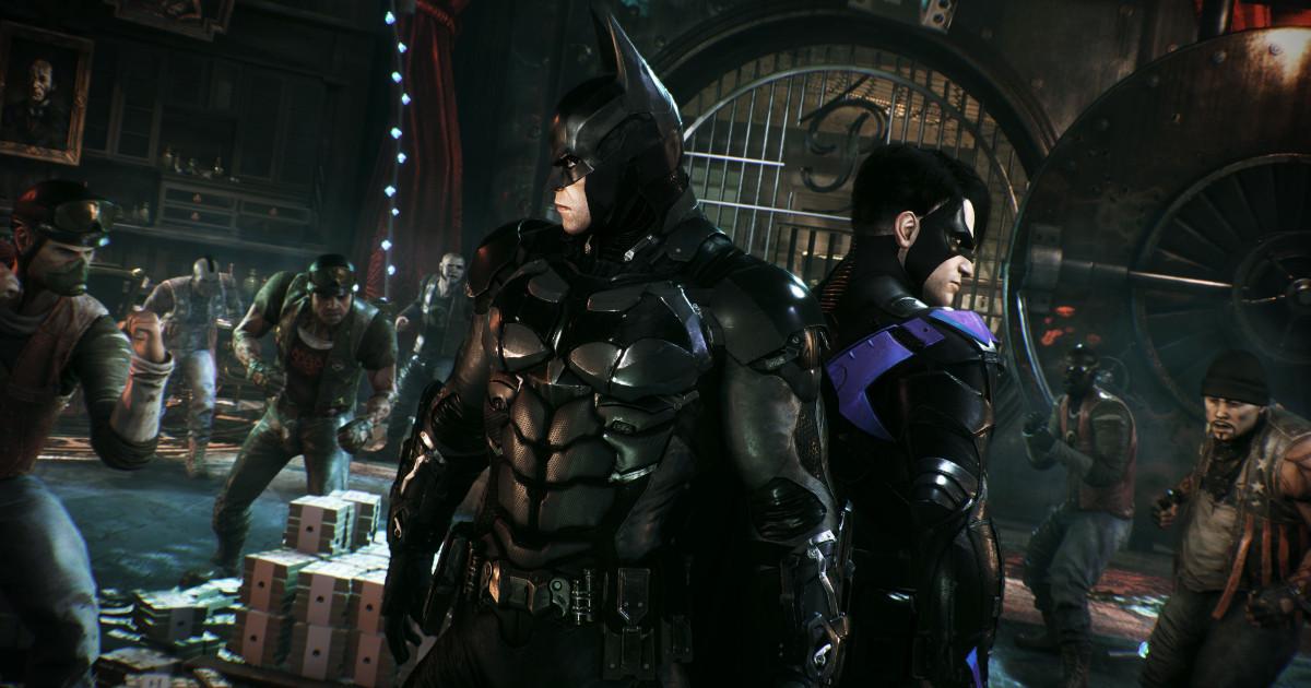 Batman e Nightwing schiena contro schiena si preparano ad affrontare una schiera di nemici - nerdface