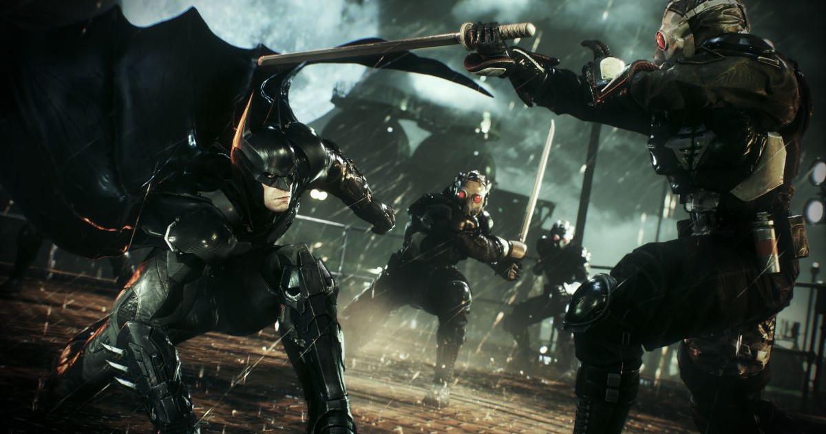 Batman evita il colpo di un avversario abbassandosi - nerdface