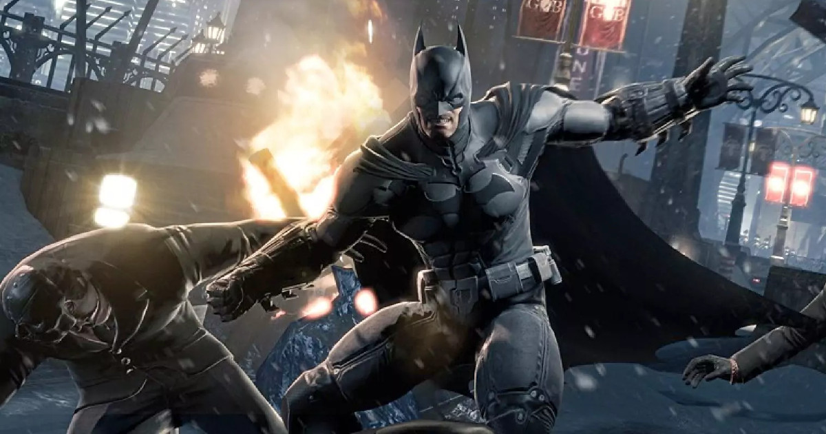 Batman mentre atterra un nemico - nerdface
