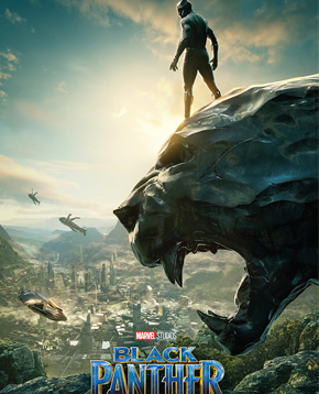 Poster del film Black Panther - nerdface