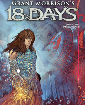 copertina ufficiale del fumetto Grant Morrison's 18 Days - nerdface