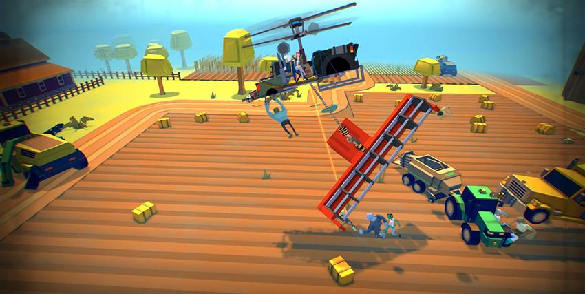 Un livello del videogioco Dustoff Z - nerdface