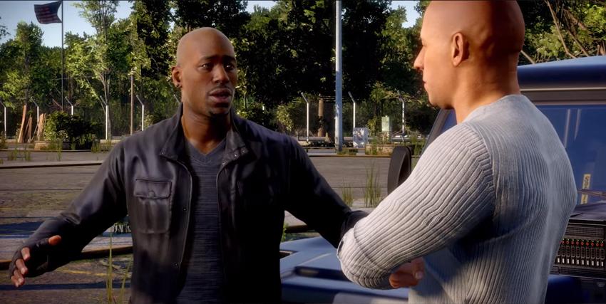 Dominic Toretto parla con un altro personaggio - nerdface