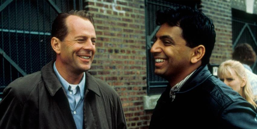 M. Night Shyamalan insieme a Bruce Willis - nerdface