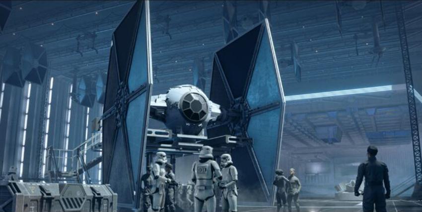 Una navicella spaziale in Star Wars Squadrons - nerdface