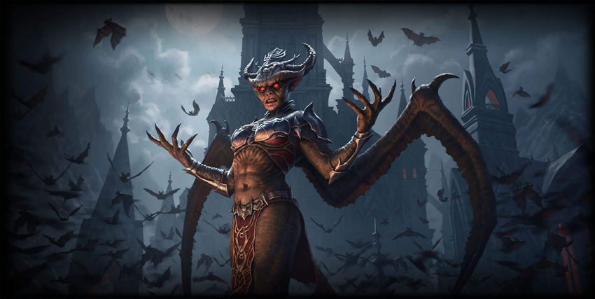 Un grande vampiro di The Elder Scrolls: Stonethorn - nerdface