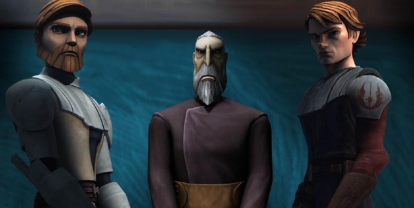 obi wan, il conte dooku e anakin osservano qualcosa con espressione cupa - nerdface
