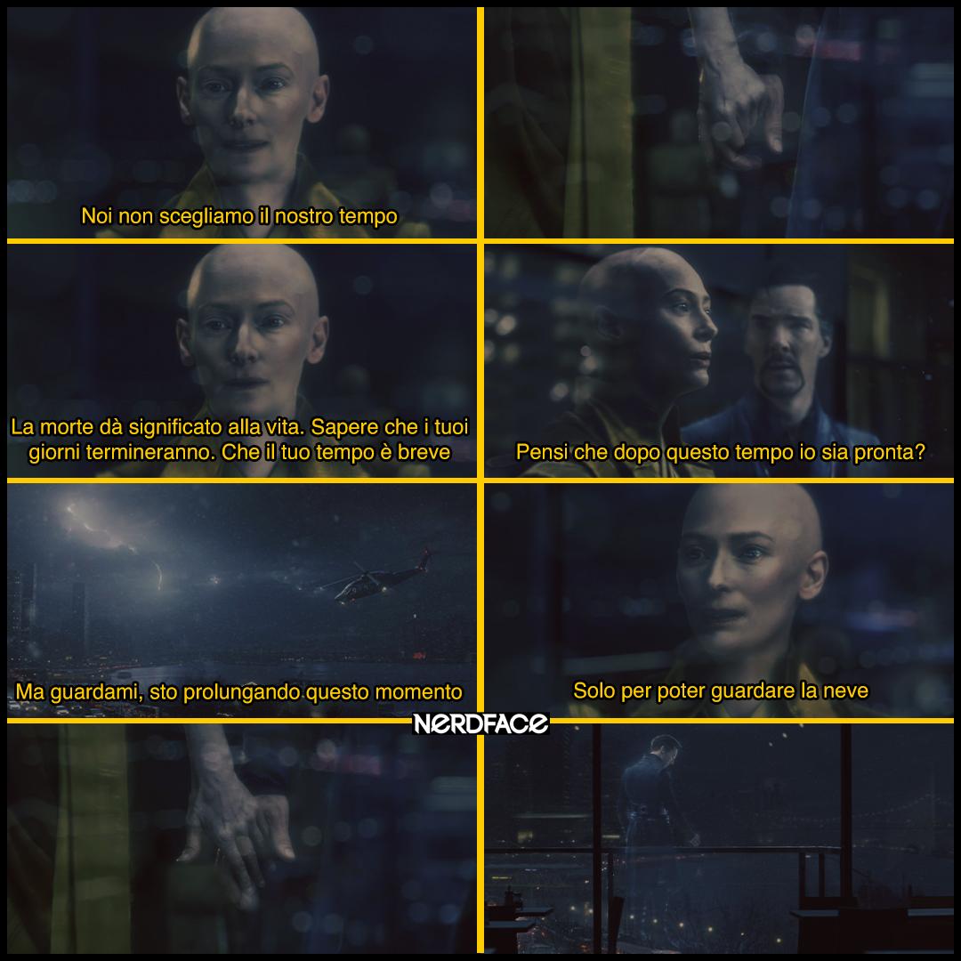 Una scena del film Doctor Strange con Tilda Swinton e Benedict Cumberbatch - nerdface