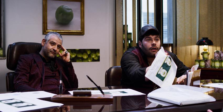 i due produttori protagonisti del film pretendono idee nuove per la pellicola - nerdface