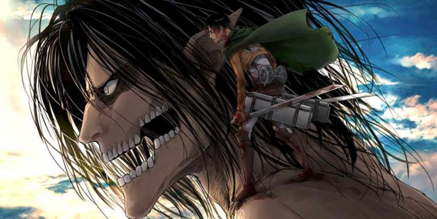 un soldato è poggiato sulla spalla di un gigante, evidentemente suo alleato - nerdface