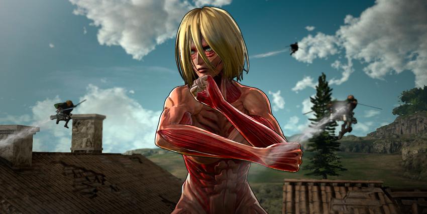 un gigante donna sta combattendo contro alcuni soldati in volo tridimensionale - nerdface