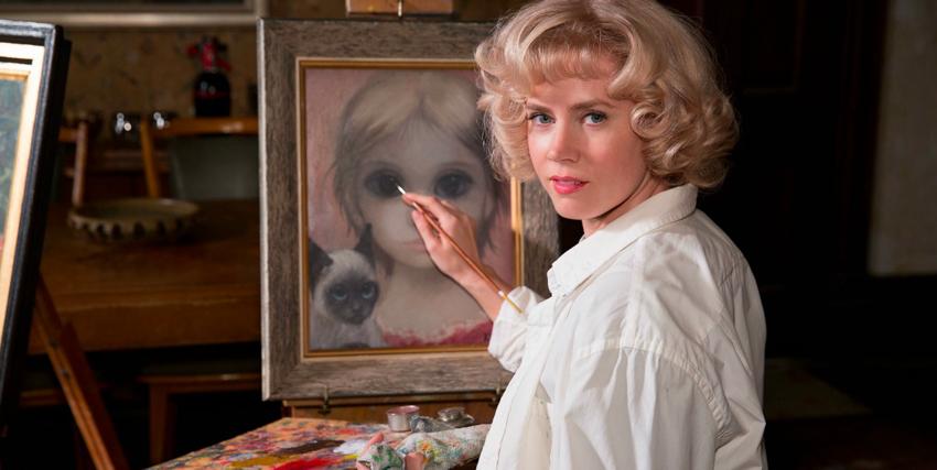 amy adams sta dipingendo uno dei quadri con i personaggi dagli occhi grandi - nerdface