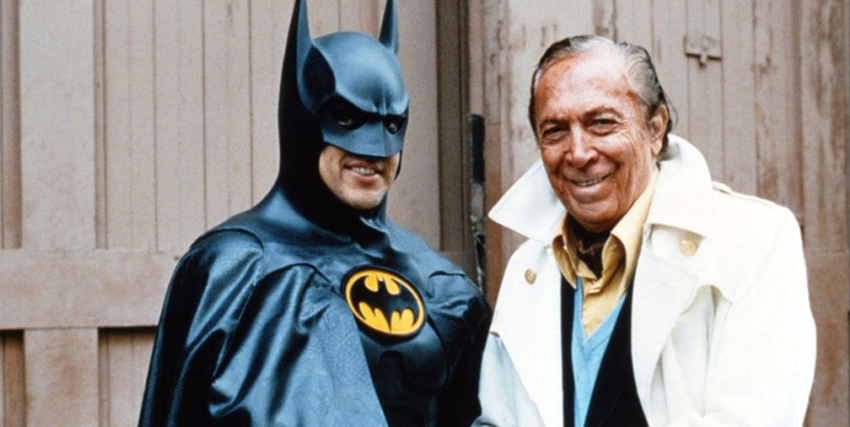 Bob Kane in compagnia di Batman