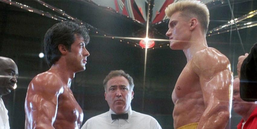 Rocky e Ivan Drago faccia a faccia sul ring - nerdface