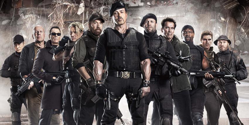 tutti i personaggi de I Mercenati schierati - nerdface