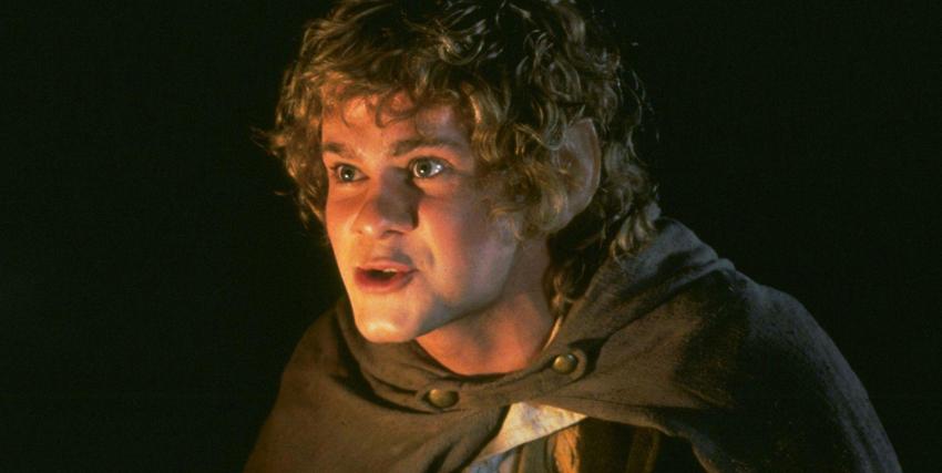 Primo piano di Dominic Monaghan nei panni di Merry nel Signore degli Anelli - nerdface