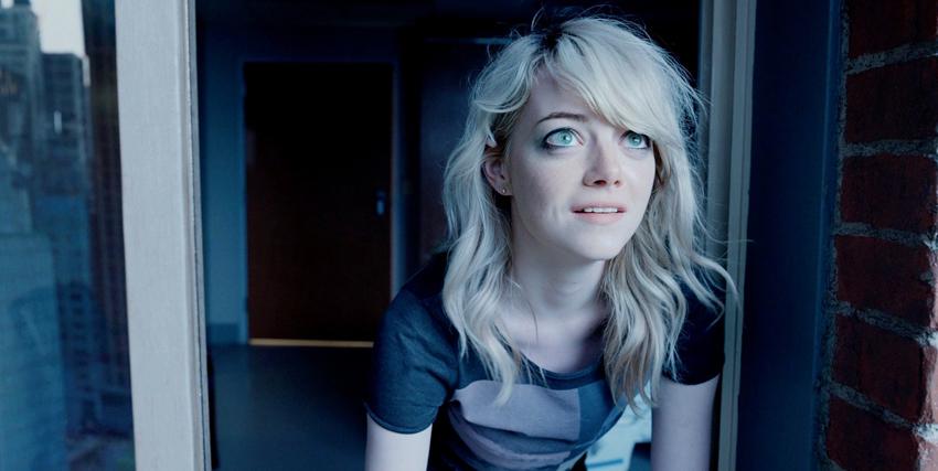 Primo piano di Emma Stone in Birdman - nerdface