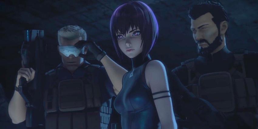 tre appartenenti alla sezione 9, guidati dalla protagonista col caschetto d'ordinanaza, sembra aver scoperto qualcosa - nerdface