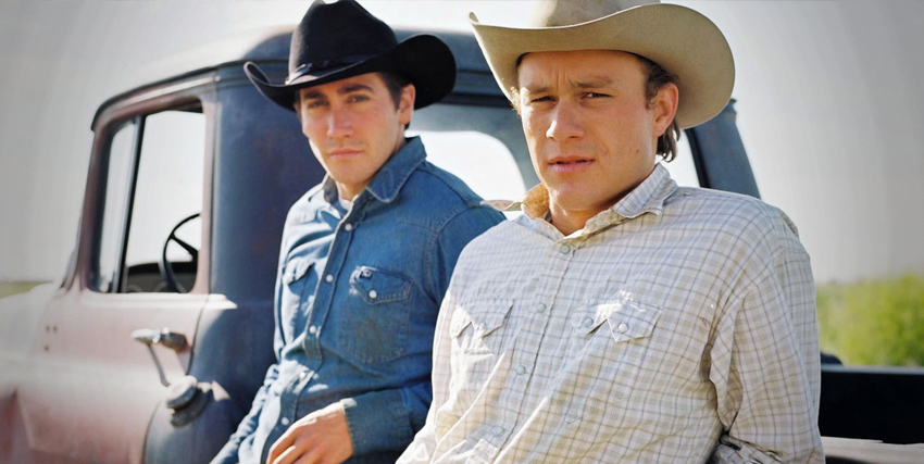 Heath Ledger insieme a Jake Gyllenhaall nel film I Segreti di Brokeback Mountain - nerdfaced