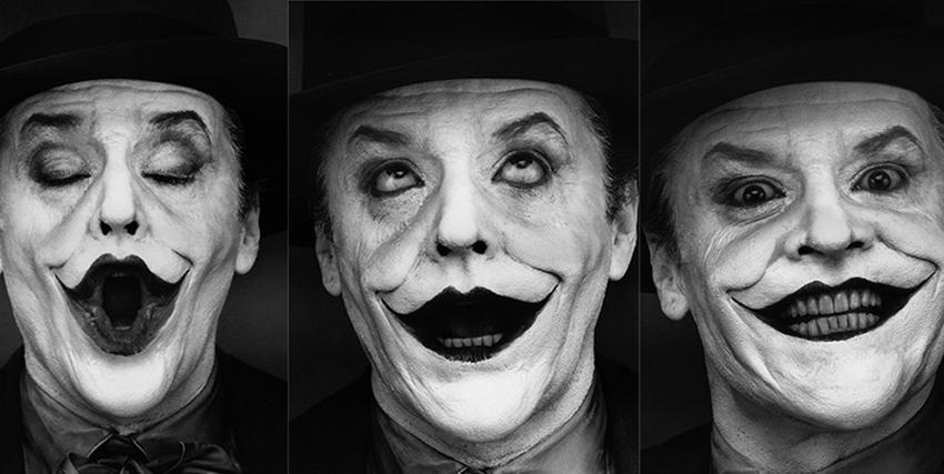 Tre diverse espressioni di Jack Nicholson nei panni di Joker - nerdface