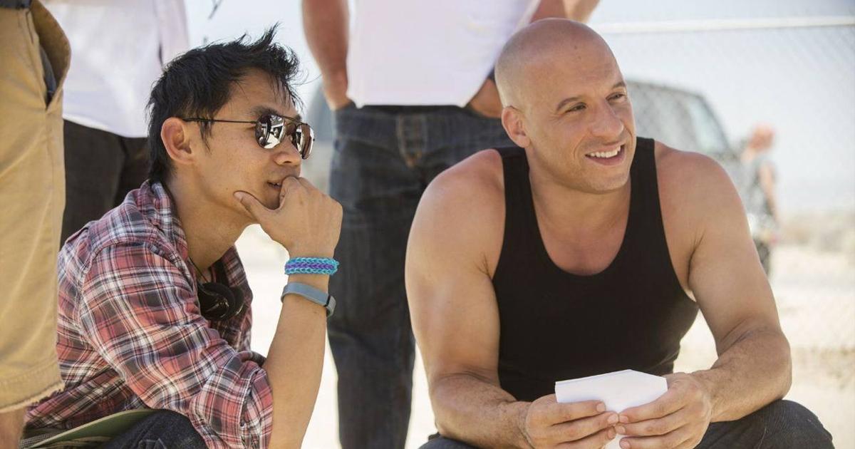 James Wan insieme a Vin Diesel sul set di Fast & Furious 7 - nerdface