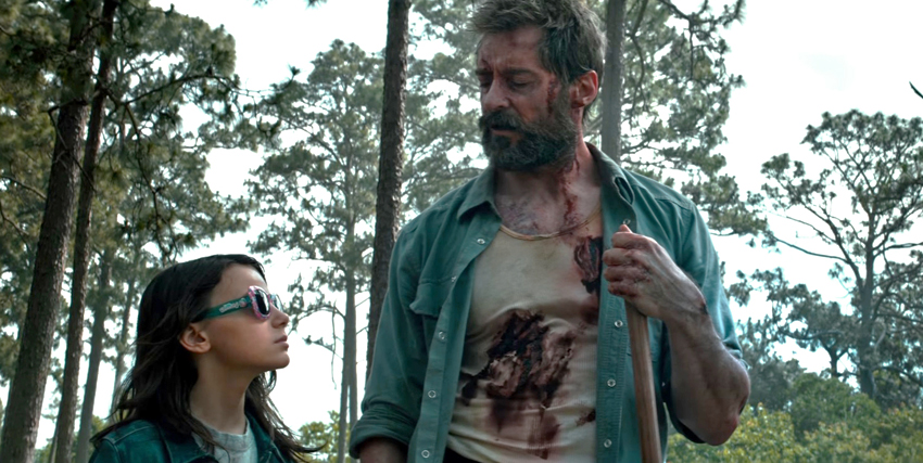 Wolverine in compagnia di Laura in Logan - nerdface