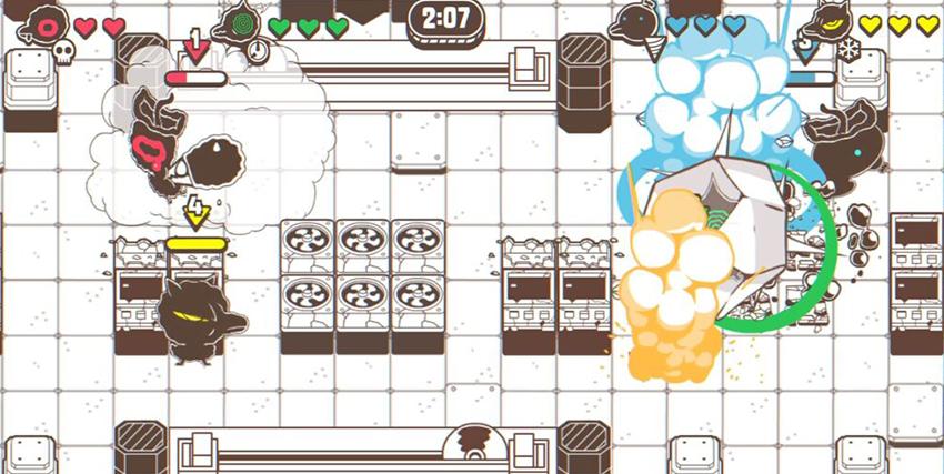 Un livello del videogioco Ponpu - nerdface