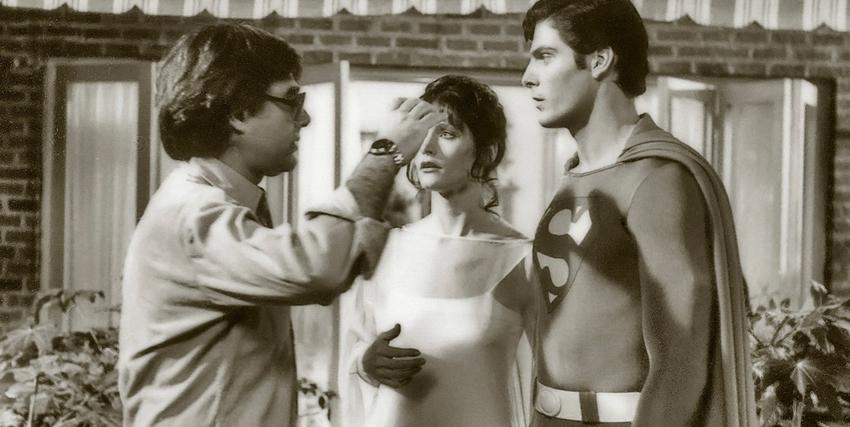 Richard Donner insieme a Christopher Reeve sul set di Superman - nerdface