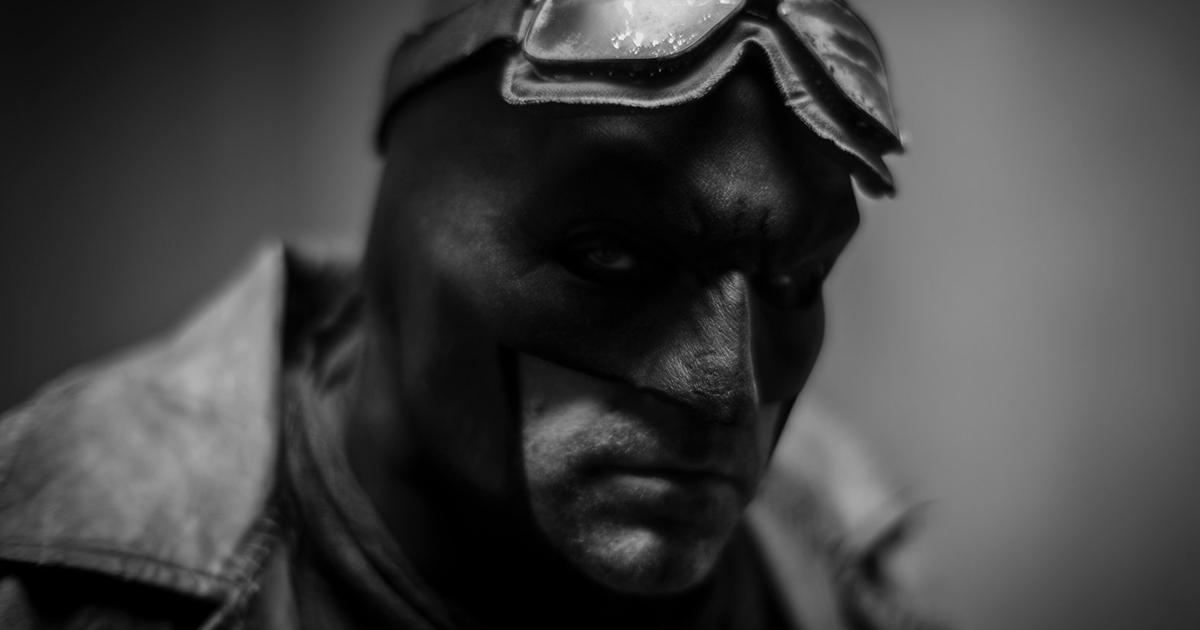 Primo piano del Batman di Ben Affleck