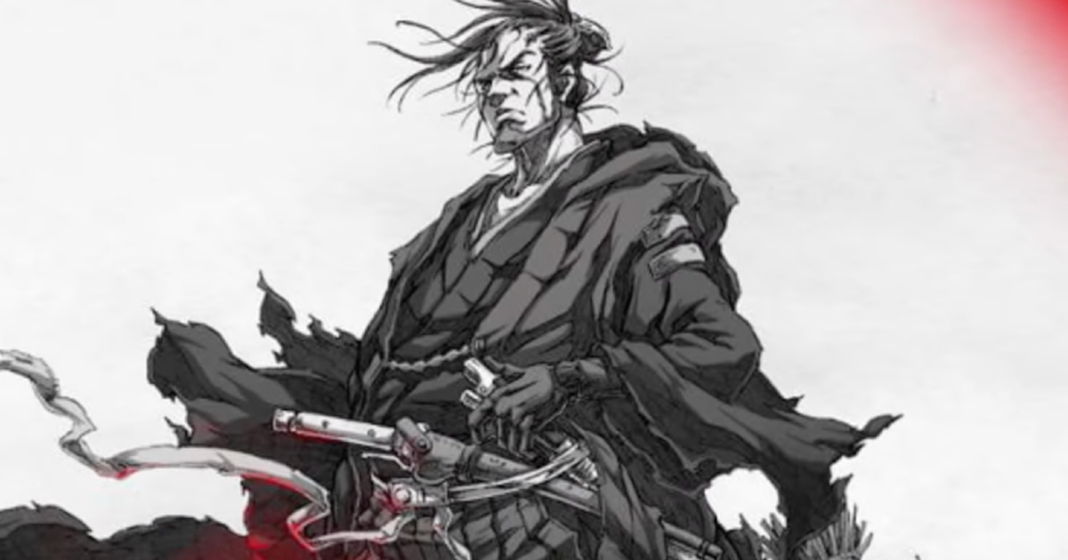 un samurai dell'immaginario giapponese è seduto con un'espressione molto seria - nerdface