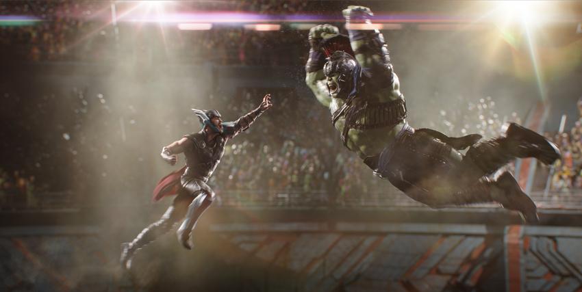 Thor e Hulk si scontrano in Thor: Ragnarok - nerdface