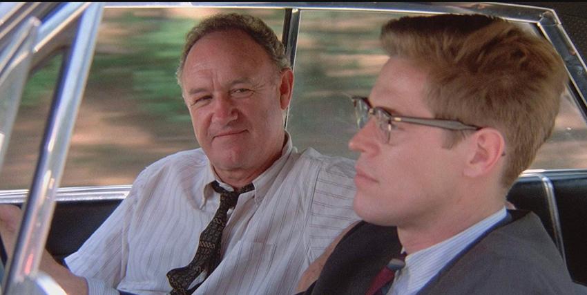 Willem Dafoe in auto insieme a Gene Hackman - nerdface